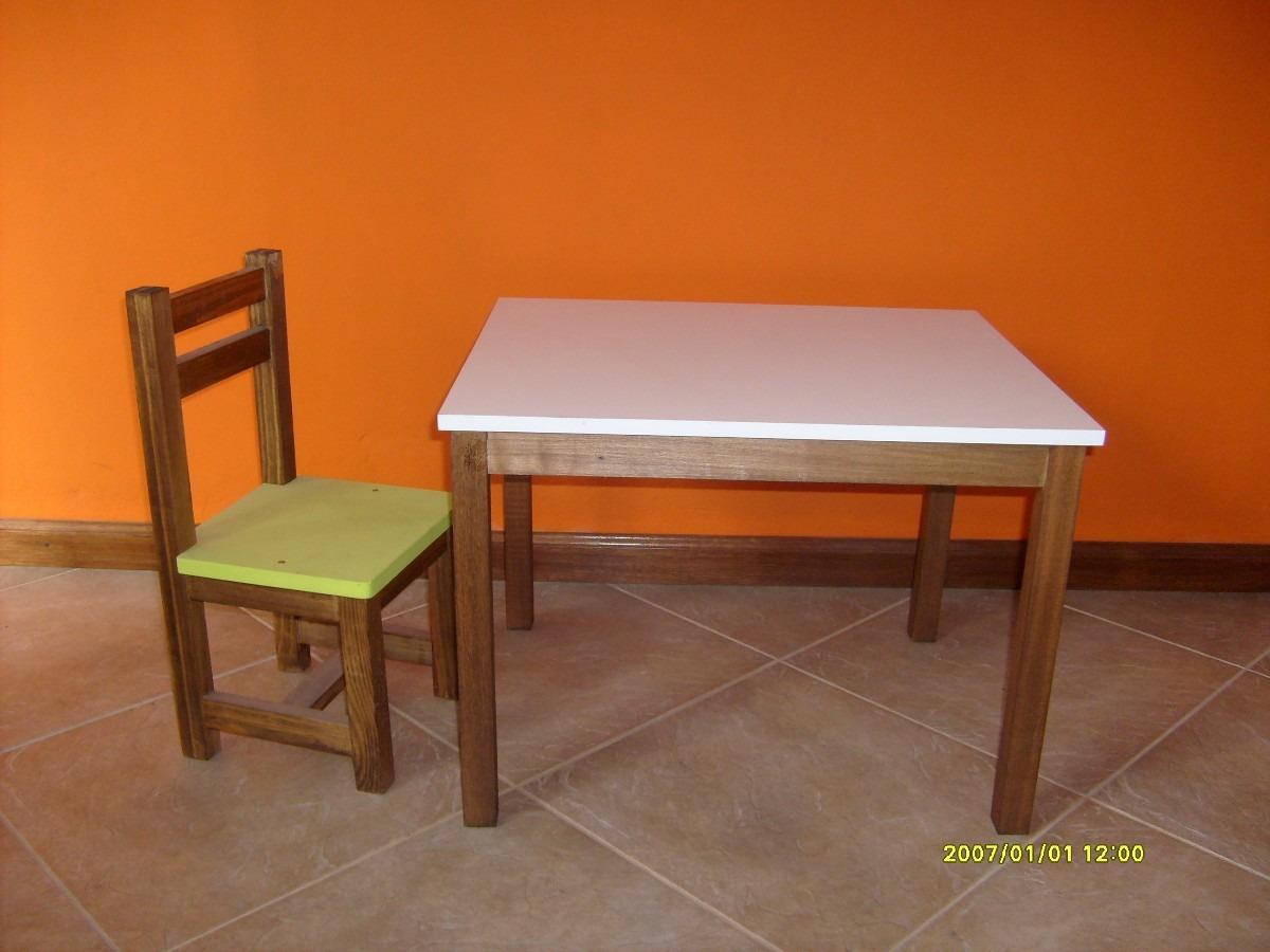 Mesa en madera para ni os tapa melam nico en mercado libre - Mesas madera ninos ...