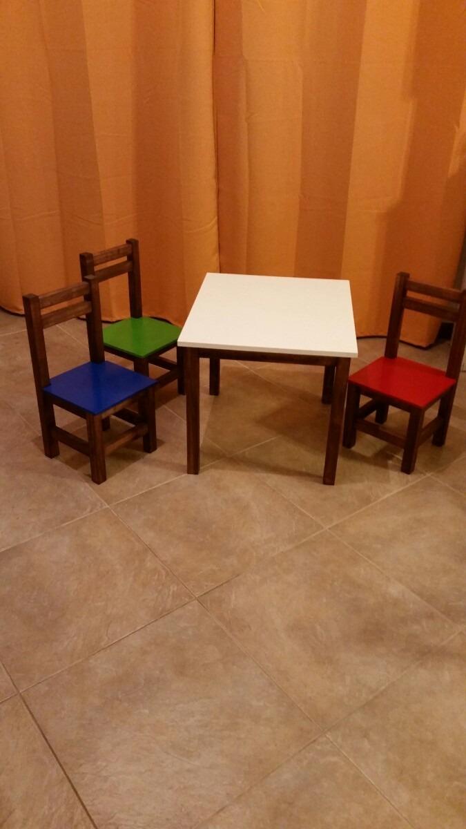 Mesa en madera para ni os tapa melam nico - Mesas madera ninos ...