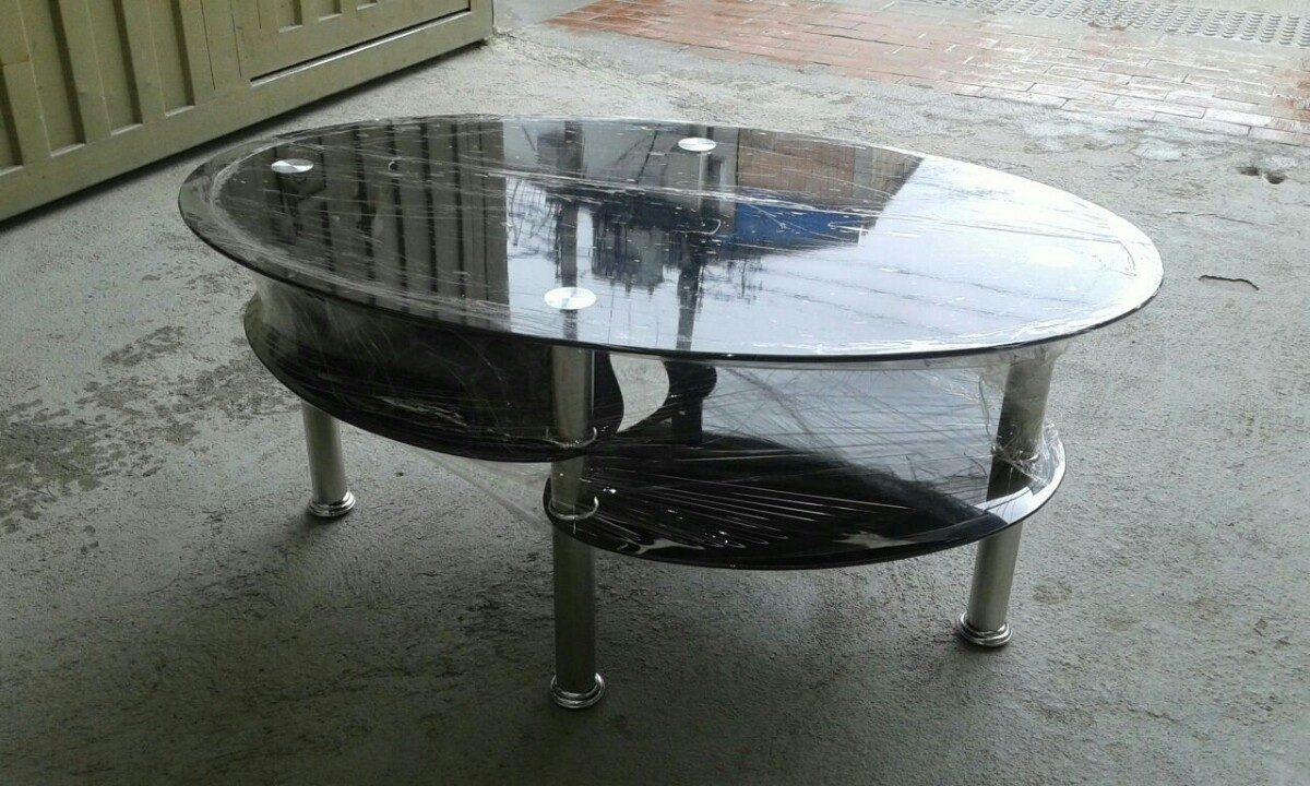Mesa en vidrio templado para sala en mercado libre for Mesas de centro de sala de vidrio