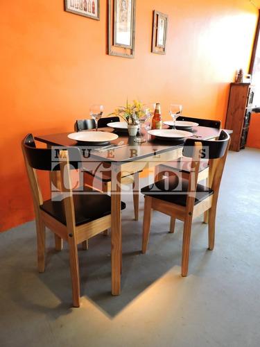 mesa escandinava retro 1x0,60 mts ! madera. muebles cristoff