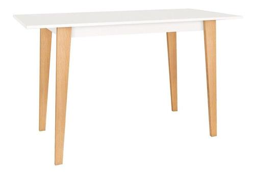 mesa escritorio blanca linea retro oficina - muebles express