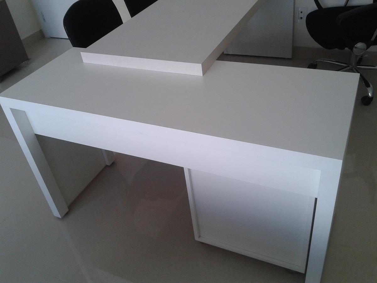 Mesa escrit rio branca r em mercado livre - Escritorio mesa ...