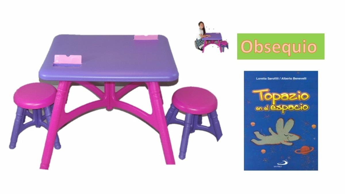 Mesa escritorio comedor desarmable ni as infantil 162 for Mesa escritorio infantil