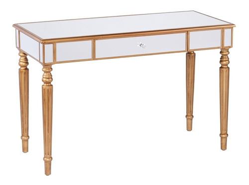 mesa escritorio con acabado en espejo brandilyn mirrored