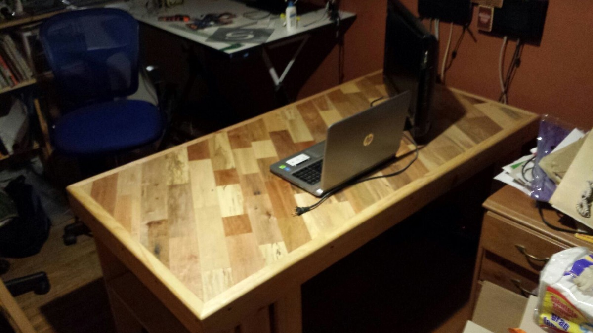Mesa escritorio con madera reciclada 2 en mercado libre - Mesa escritorio madera ...