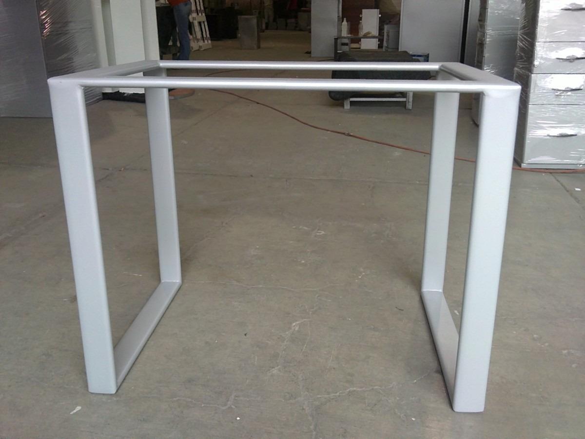 Mesa escritorio de pata cuadrada met lica lbf 2 - Patas metalicas para mesas ...