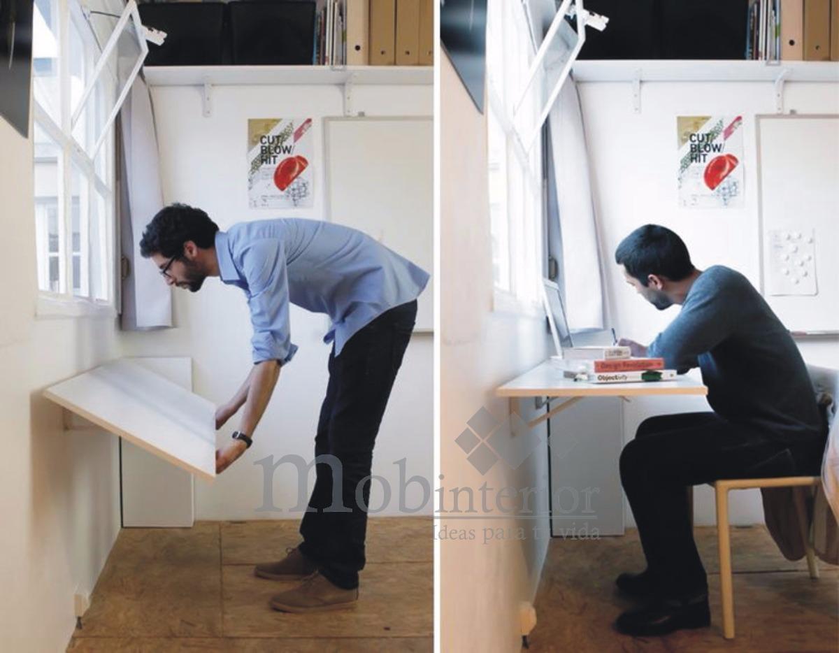 Mesa escritorio flotante plegable ahorra espacio mobinterior 1 en mercado libre - Muebles ahorra espacio ...
