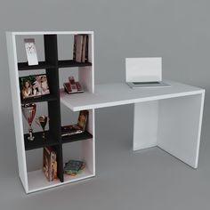 mesa escritorio minimalista repisa moderno mdf mueble