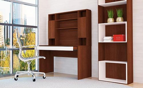 mesa escritorio pc 721 mosconi con alzada 121x60x168 cm.