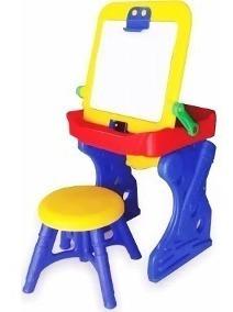 mesa escritorio pupitre tablero infantil +silla niño juguete