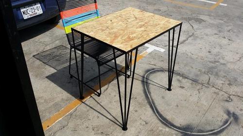 mesa-escritorio restaurante cafeteria metal.