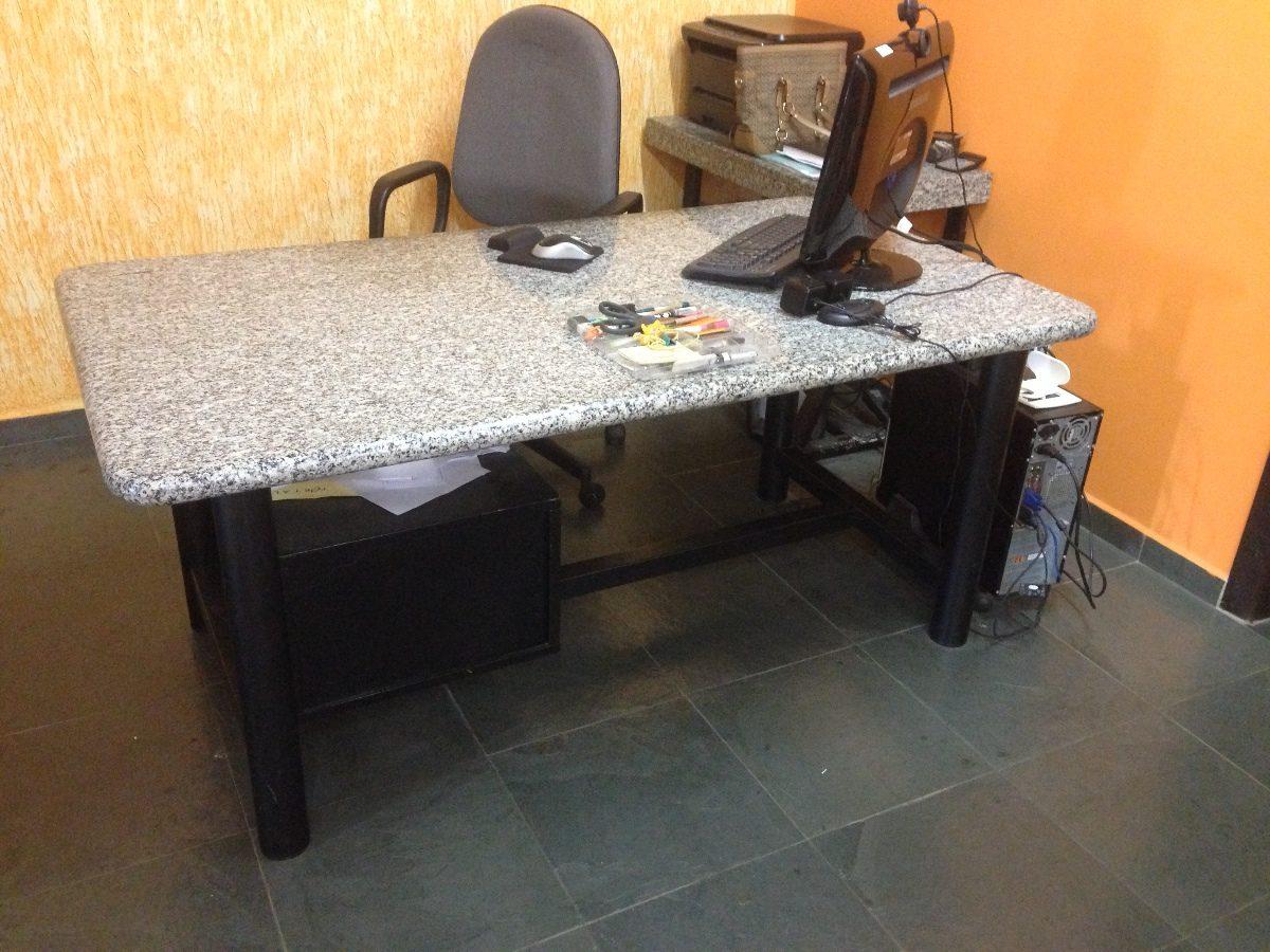 Mesa escrit rio retangular com tampo de granito r 500 00 em mercado livre - Mesa de granito ...