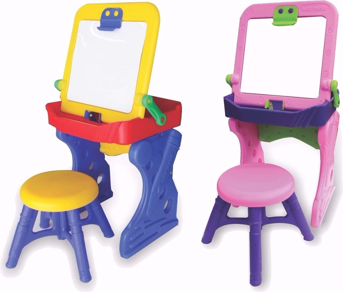 Mesa escritorio tablero acrilico infantil mesa silla escolar en mercado libre for Escritorio infantil