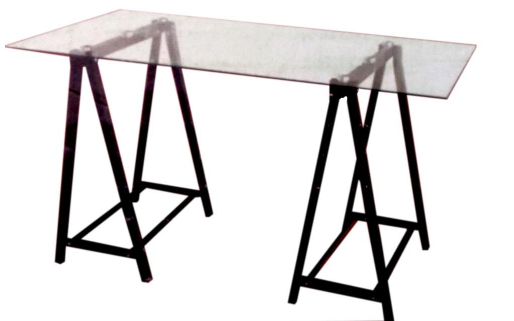 Mesas de escritorio cristal interesting mesas de - Mesa escritorio cristal ikea ...