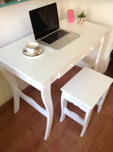 mesa escritorio/banquito/almohadon! super oferta!