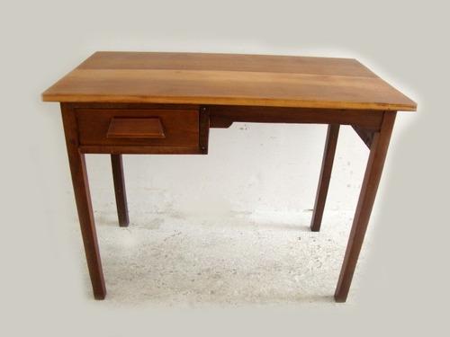 mesa escrivaninha antiga peq. infantil imbuia e ipê rosa