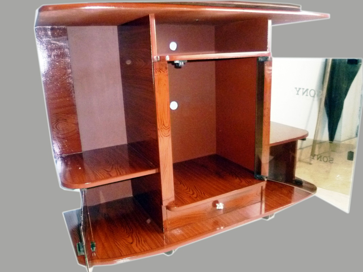 mesa espa ola para tv y equipo de sonido en