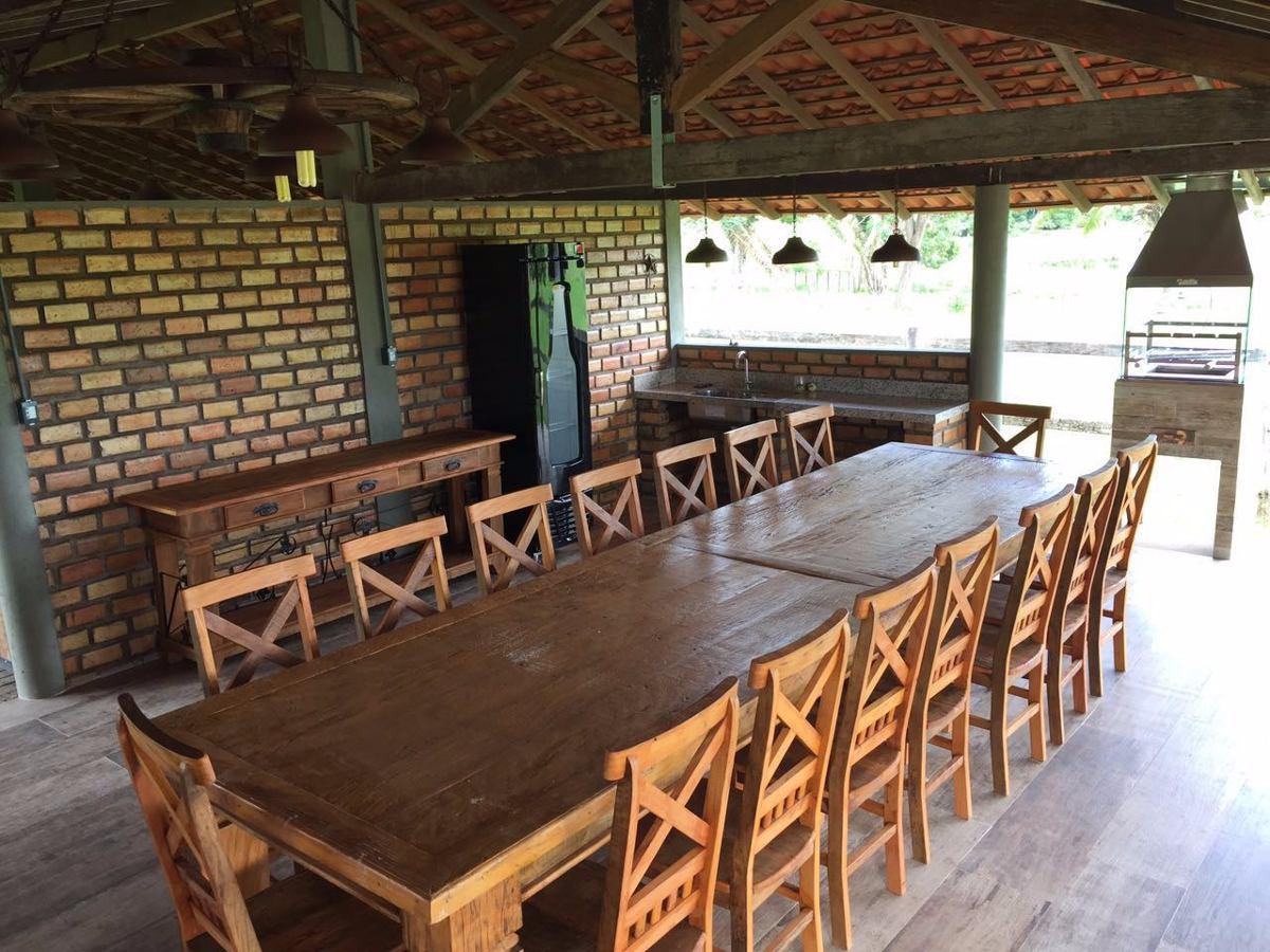 Mesa Especial 4 Metros 16 Cadeiras Peroba R 8 990 00