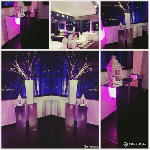 mesa espejada columnas espejadas alquiler y venta