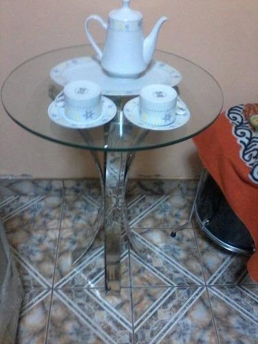 mesa esquinera de acero inoxidable !!! remato !!!