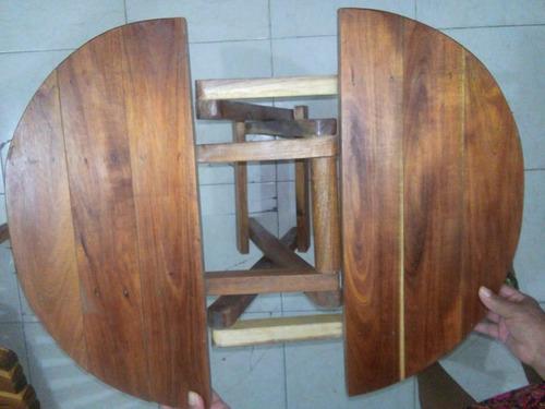mesa esquinera plegable de tzalam