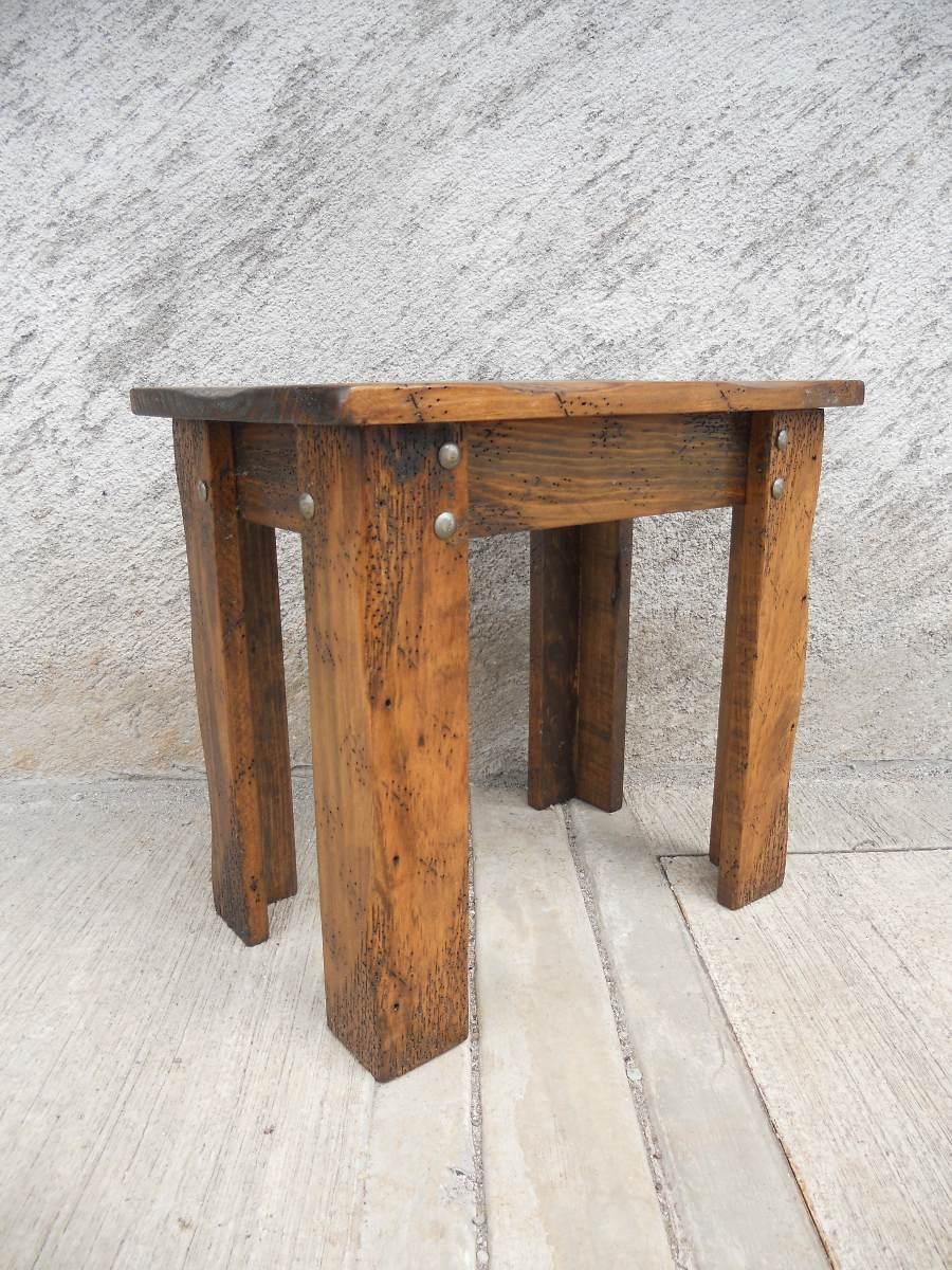 Mesa esquinera r stica madera de pino en mercado libre - Madera de pino ...