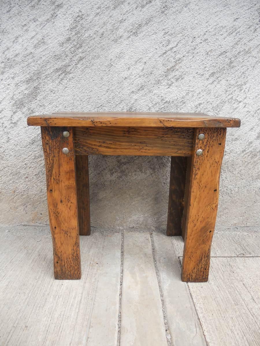 Mesa esquinera r stica madera de pino apolillada - Mesas madera rustica ...
