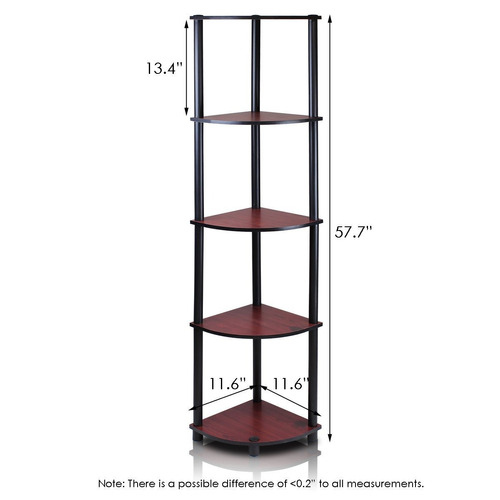 mesa esquinero 5 niveles rojo oscuro * envío gratis