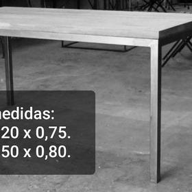 Mesa Estilo Industrial 1.20 X 0.75 - 1.50 X 0.80