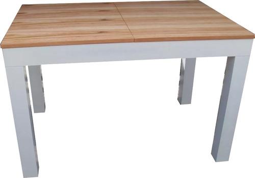 mesa extensible 120x70 a 160 madera  blanca  paraiso !nueva!