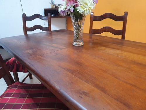mesa extensible algarrobo 1.40 a 1.80