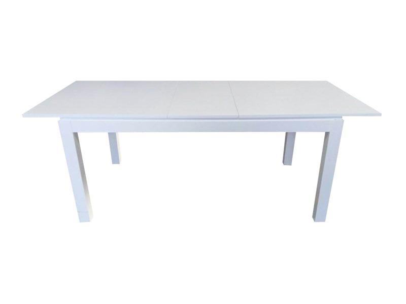 Mesa Extensible Blanca Asia Laqueada 160 A 2 M Para Comedor ...