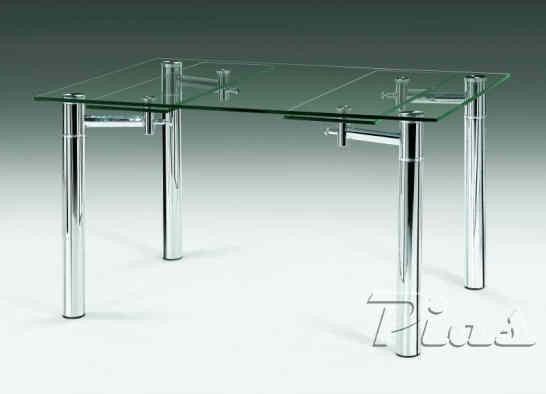 Mesa comedor 120 x 80 extensible casa dise o for Mesa de vidrio extensible