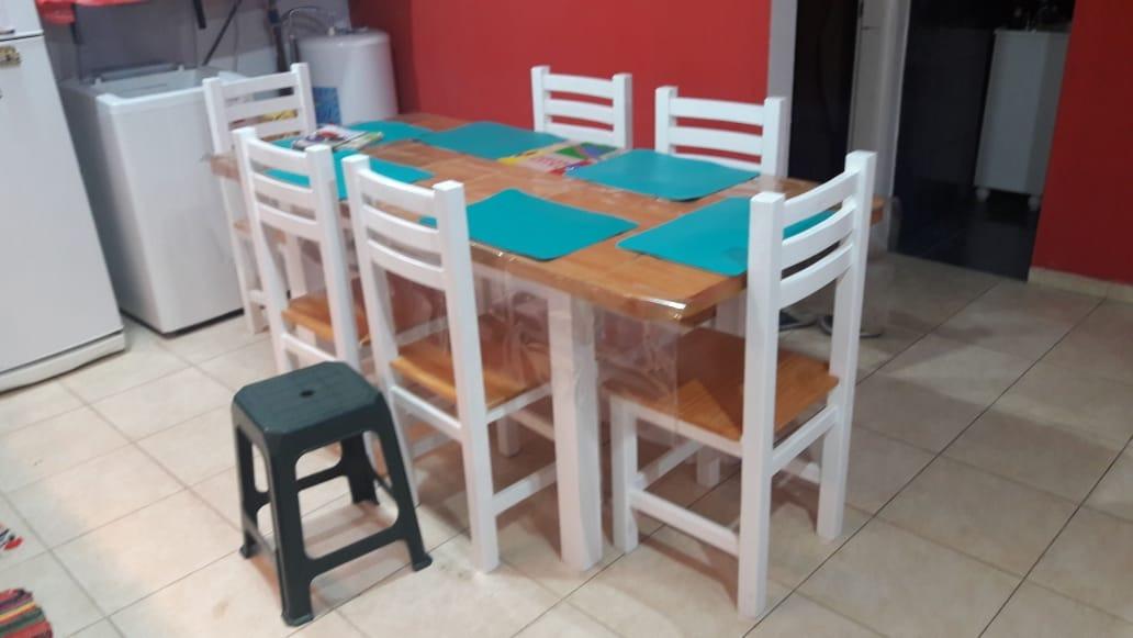 En Sillas Pintadas Y 6 Comedor Pino Mesa Extensible Cocina qzGLSjUMVp