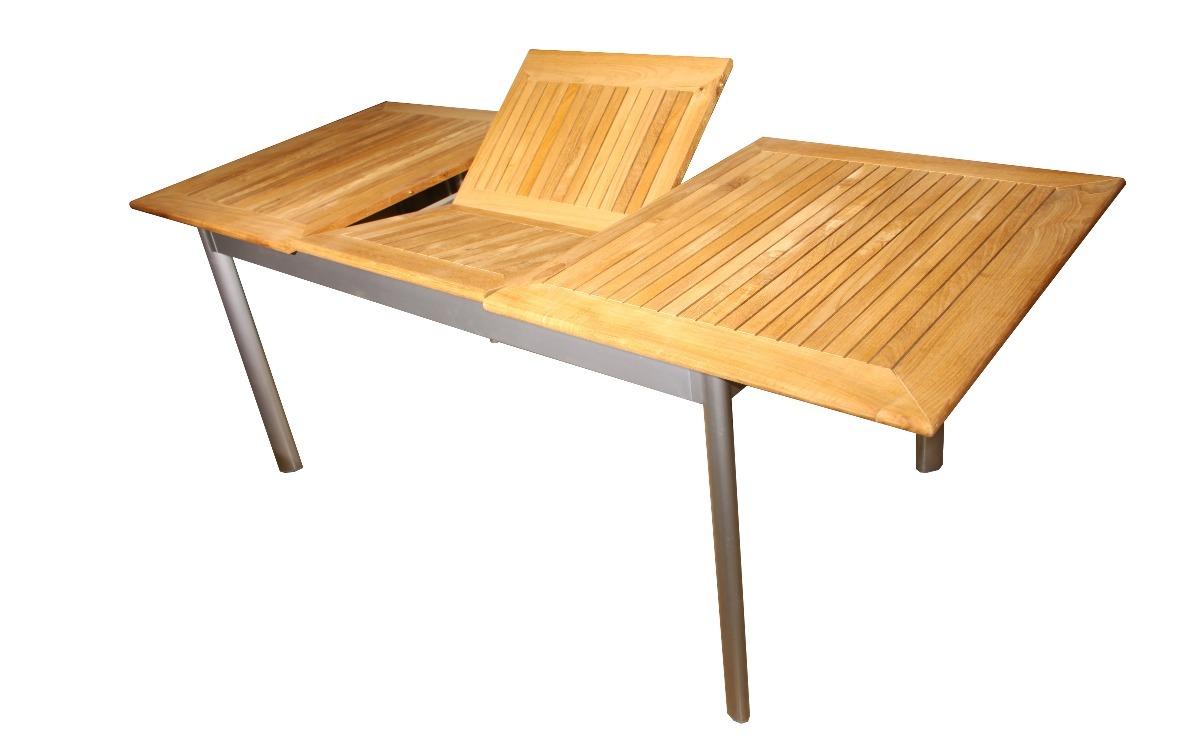 c0bd8c67f73e5 mesa exterior fario extensible madera teka aluminio 220 280. Cargando zoom.