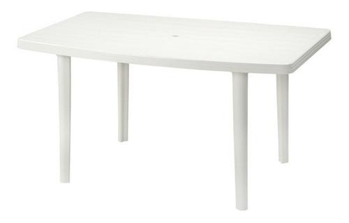 mesa familiar manaplas rectangular- blanco/rojo/azul (usado)