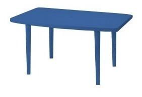 mesa festival familiar color azul 138 x 83.5 cm manaplas