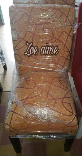 mesa fija 1.60 + 6 sillas vestidas en chenille!!