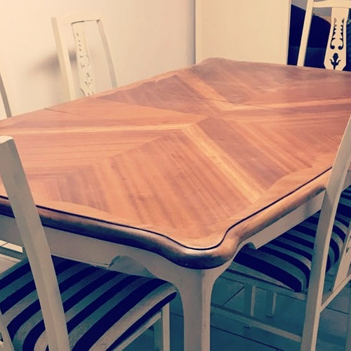 mesa francesa con alargue