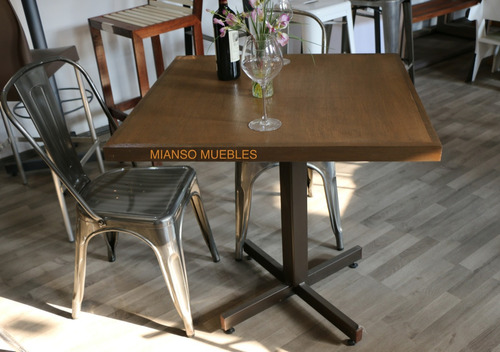 Mesa francia para restaurantes cafeterias y bares for Kioscos bares de madera somos fabricantes