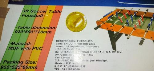 mesa futbolito para 14 jugadores con 6 varillas