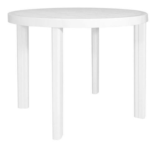 mesa garden life guinea plástica blanca o negra f4130