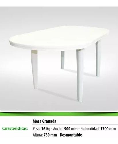 mesa granada - plásticos munro