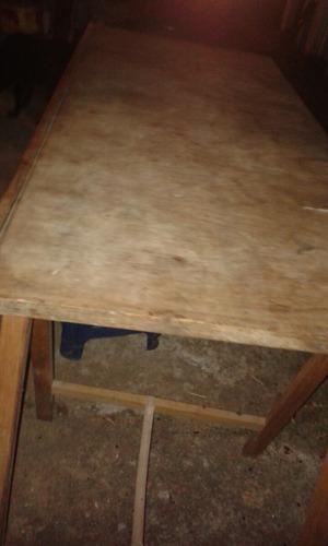 Mesa grande feria con caballetes en mercado libre - Mesa con caballetes ...