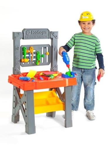 mesa herramientas banco trabajo infantil rotoys +3 años
