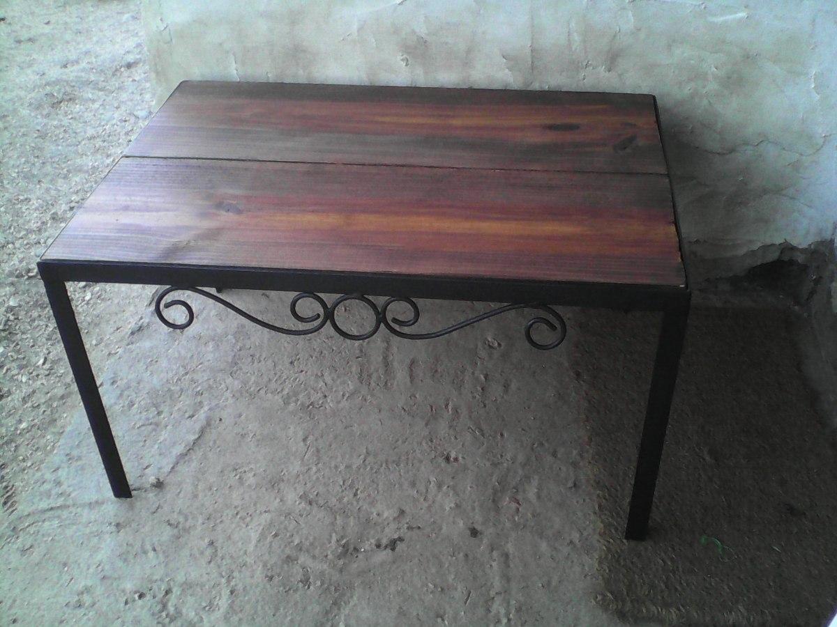 mesa en hierro para pecera o jardin se fabrican a medida
