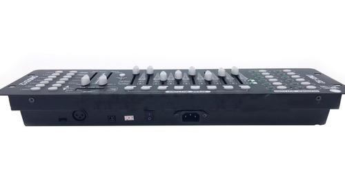 mesa iluminação dmx 512 controladora cor e movimento canhão