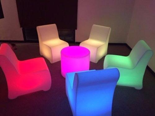 mesa iluminada prende en 13 colores