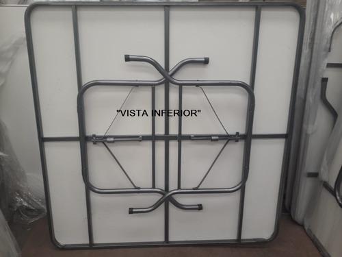 mesa imperial 1.50x1.50m cubierta fibra de vidrio !!