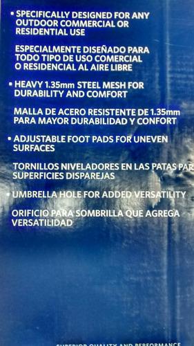 mesa importada de acero mesh bistro 71 x 71 x73 cms